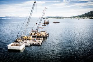 Gründung Tresfjordbrücke