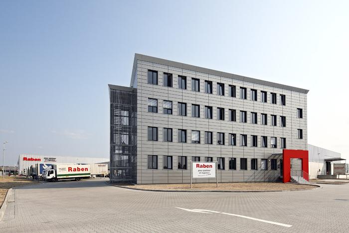 Umschlaghalle der Raben Group in Nürnberg