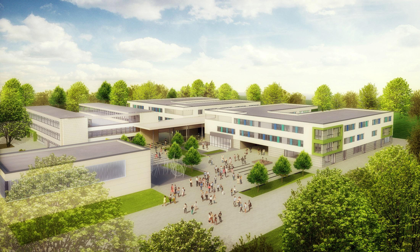 Visuelle Ansicht der zukünftigen Gesamtschule Pattensen