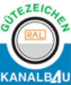 [Translate to English:] Gütezeichen Kanalbau