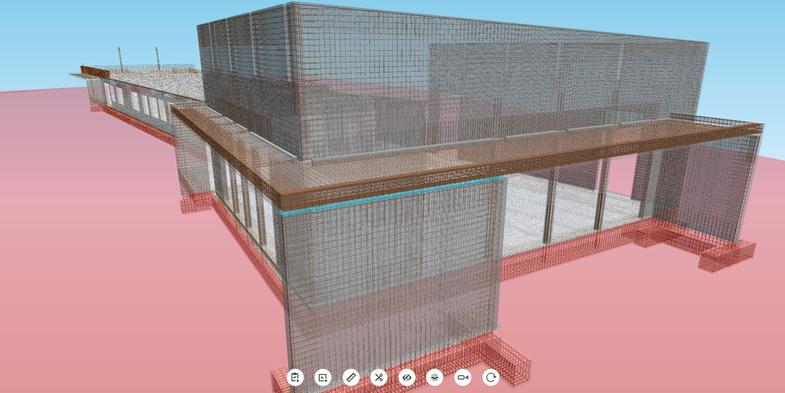 BIM model for structural design incl. 3D reinforcement plan