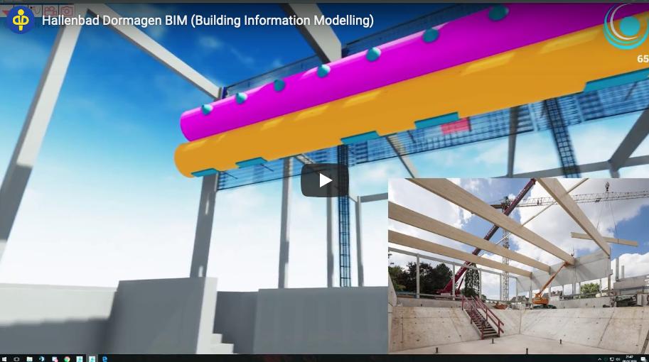 Hallenbad Dormagen BIM (Building Information Modelling)