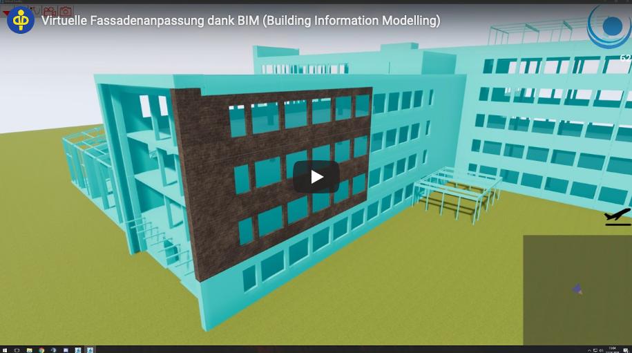 Virtuelle Fassadenanpassung dank BIM (Building Information Modelling)
